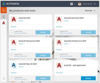 Загрузка наборов инструментов через Приложение Autodesk для ПК