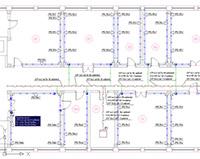 Project StudioCS СКС. Фрагмент плана этажа с установленным оборудованием