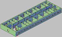 Project StudioCS ОПС. 3D вид пожарной сигнализации