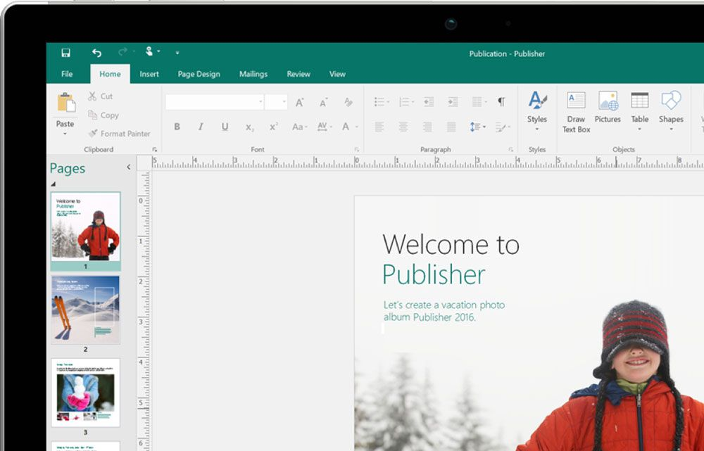 Работа в Microsoft Publisher